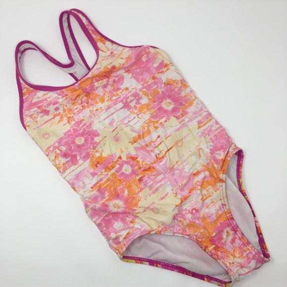 9a8b1b9d86c Speedo Swim | Girls Pink Yellow Daisy One Piece Suit | Poshmark